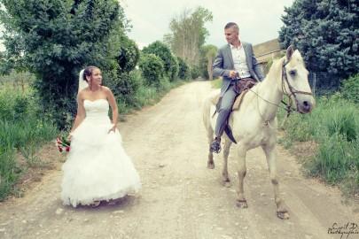 Mariage à cheval Manade Châteaurenard