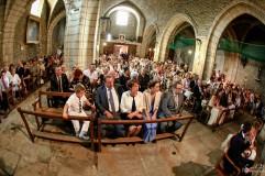 Mariage Sarrians photo des invités dans eglise
