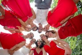 Mariage Noves photos de groupe apéritif
