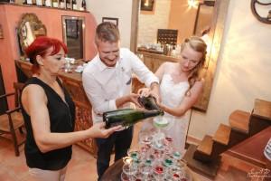 Mariage Beaumes De Venise coupe de champagne