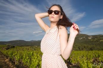 Shooting dans les vignes Terre de Trias Lafare Vaucluse